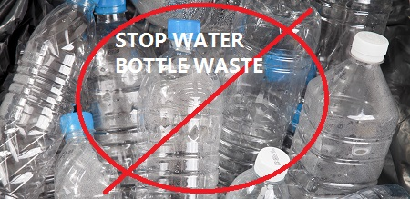 stop water bottle waste